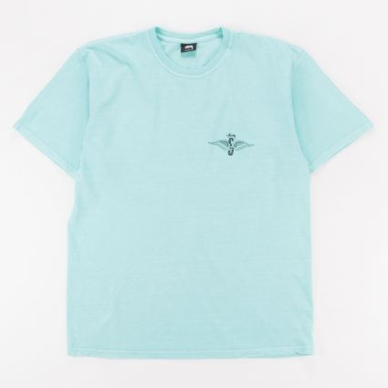 Stussy Skull Wings Pig. Dyed T-Shirt Aqua1