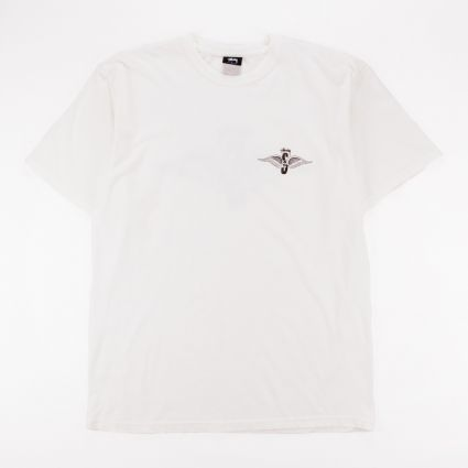 Stussy Skull Wings Pig. Dyed T-Shirt Natural1