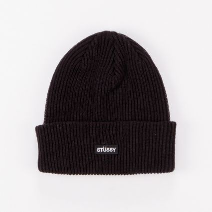 Stussy Small Patch Watchcap Beanie Black1