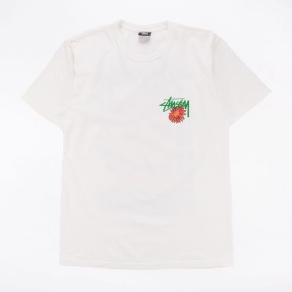 Stussy Smokin' Skull Pig. Dyed T-Shirt Natural1
