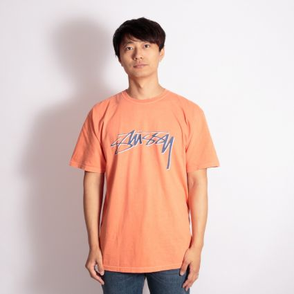 Stussy Smooth Stock Pig. Dyed T-Shirt Pale Orange