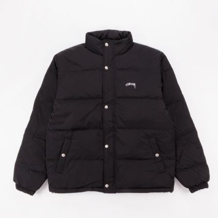Stussy Solid Puffer Jacket Black1