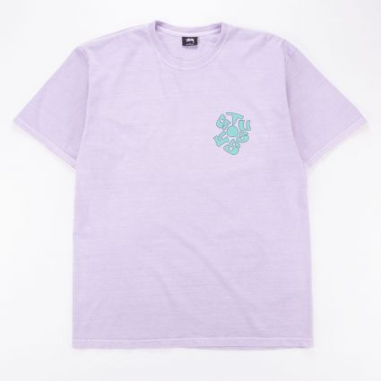 Stussy Sprout Pig. Dyed T-Shirt Lavender1