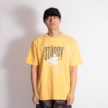 Stussy Surfman Pig. Dyed T-Shirt Yellow