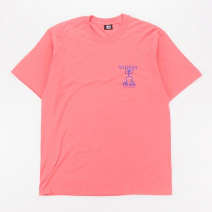 Stussy Warrior Tribe T-Shirt Pale Red1