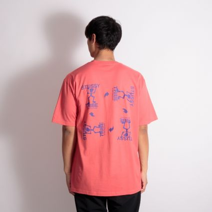 Stussy Warrior Tribe T-Shirt Pale Red