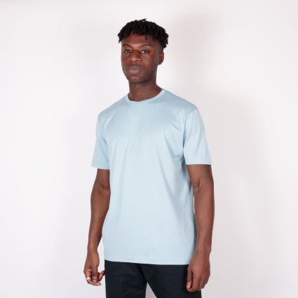 Sunspel SS Crew Neck T-Shirt Blue Jeans
