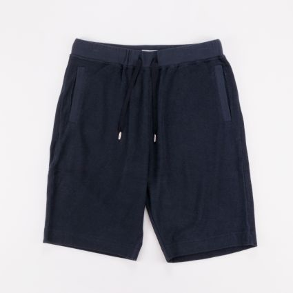 Sunspel Towelling Short Navy