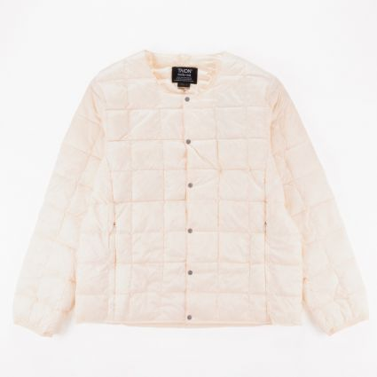 TAION Crew Neck Button Down Jacket Off White1