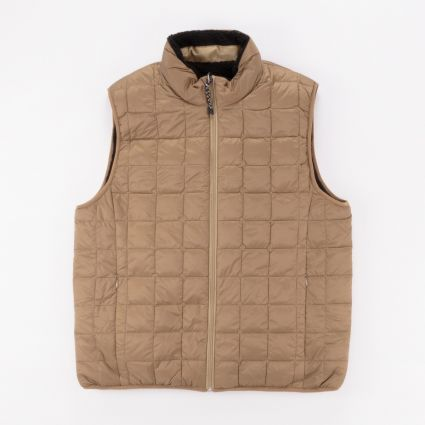 TAION Down × Boa Reversible Vest Beige/Black1