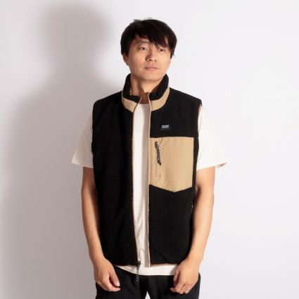 TAION Down × Boa Reversible Vest Beige/Black