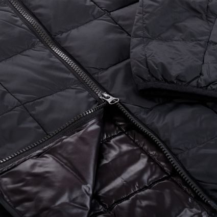 TAION Hi Neck W-Zip Down Jacket Black