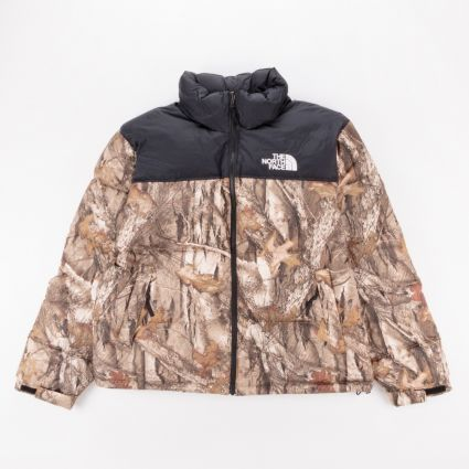 The North Face 1996 Retro Nuptse Jacket Kelptan Forestfloor Print1
