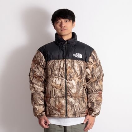 The North Face 1996 Retro Nuptse Jacket Kelptan Forestfloor Print