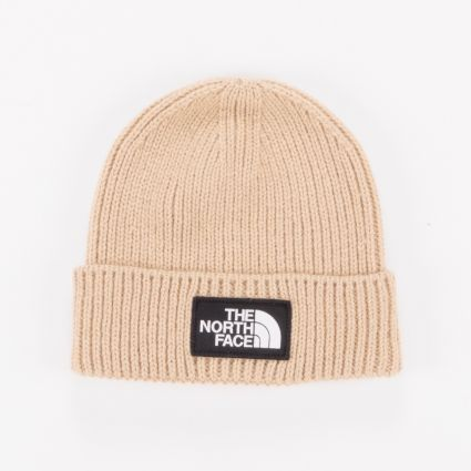 The North Face Logo Box Cuff Beanie Hawthorne Khaki1