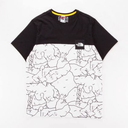 The North Face Search & Rescue T-Shirt TNF White/Shan Mar Print1