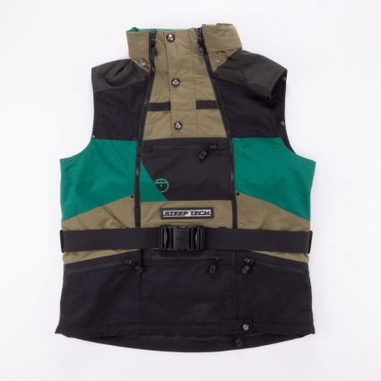 The North Face Steep Tech Apogee Vest Burnt Olive Green/Evergreen/TNF Black1