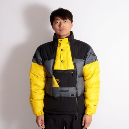 The North Face Steep Tech Down Jacket Vanadis Grey/TNF Black/Lightning Yellow