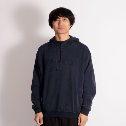 ThisIsNeverThat Washed Embroidery Hoodie Dark Navy