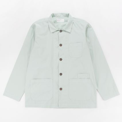 Universal Works Bakers Overshirt Cool Green1