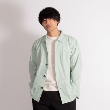 Universal Works Bakers Overshirt Cool Green
