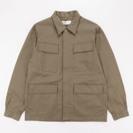 Universal Works MW Fatigue Jacket Light Olive1