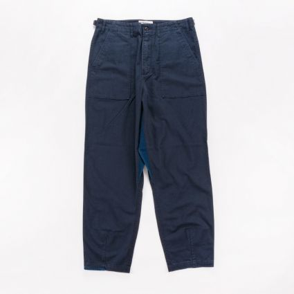 Universal Works Patched Mil Fatigue Pant Navy1