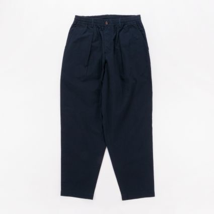 Universal Works Pleated Track Pant Navy1