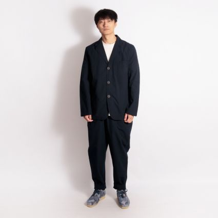 Universal Works Pleated Track Pant Navy