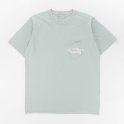 Universal Works Print Pocket T-Shirt Cool Green1