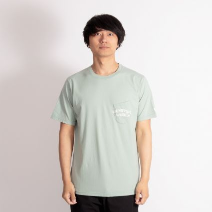 Universal Works Print Pocket T-Shirt Cool Green