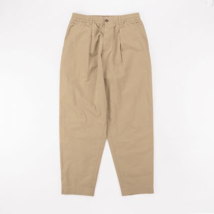Universal Works Ripstop Pleated Track Pant Sand