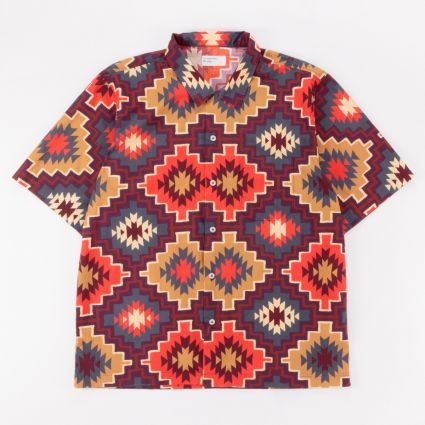 Universal Works Santa Fe Poplin Road Shirt Brown