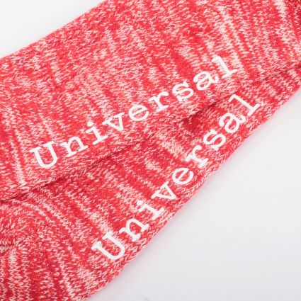 Universal Works Slub Knit Socks Red