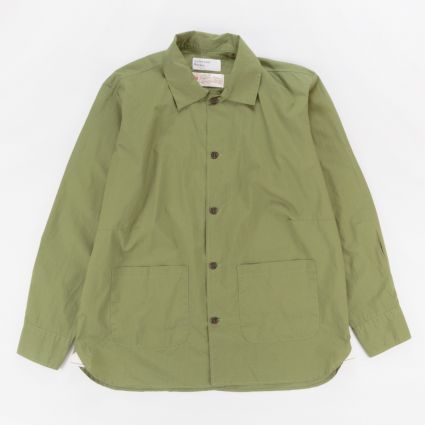 Universal Works Travail Shirt Olive1
