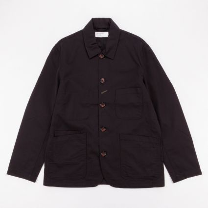 Universal Works Bakers Jacket Black1