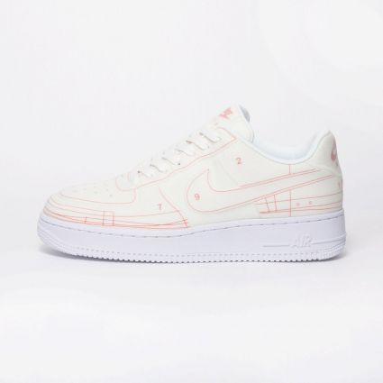 Nike Air Force 1 '07 Lux 'Schematic' Summit White/Summit White-University Red CI3445-100