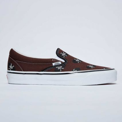 Vault by Vans x Wacko Maria UA OG Classic Slip-On LX Brown/Records VN0A45JK5951