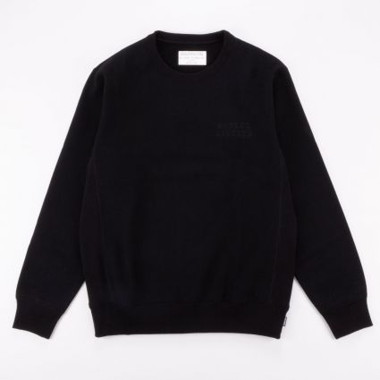 Wacko Maria Heavy Weight Crew Neck Sweat Shirt (Type-1) Black1