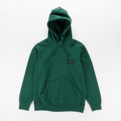 Wacko Maria Heavy Weight Pullover Hooded Sweatshirt (Type-3) Green1