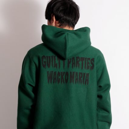Wacko Maria Heavy Weight Pullover Hooded Sweatshirt (Type-3) Green