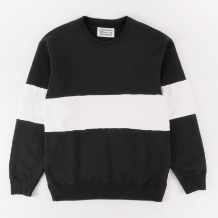 Wacko Maria Two-Tone Crew Neck Sweatshirt (Type-1) Black