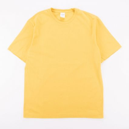Wacko Maria Washed Heavy Weight Crew Neck Color T-Shirt (Type-1) Yellow1