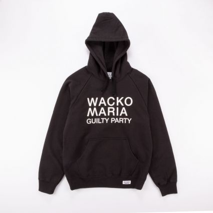 Wacko Maria Washed Heavy Weight Pullover Hooded Sweat Shirt ( Type-2) Black1
