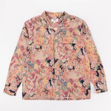 YMC Floral Feathers Shirt Multi1
