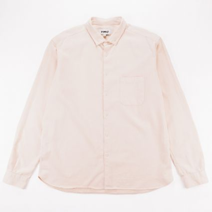 YMC Light Organic Twill Dean Shirt Ecru1