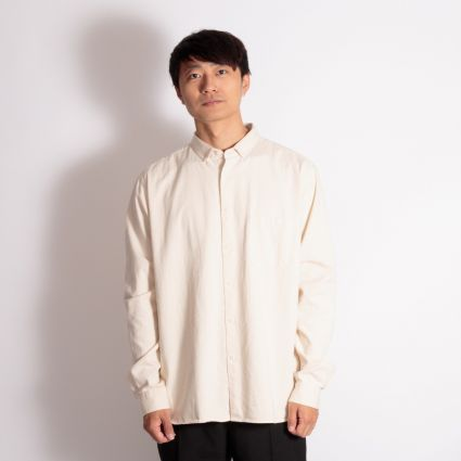 YMC Light Organic Twill Dean Shirt Ecru