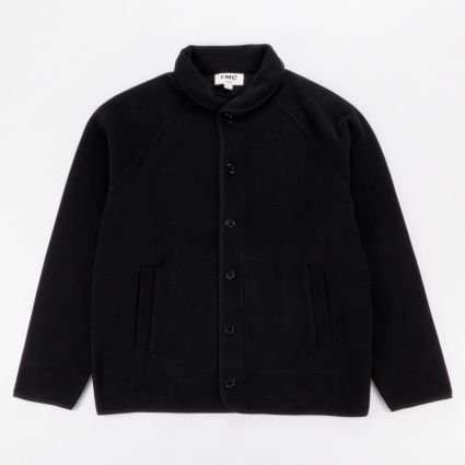 YMC Solid Fleece Beach Jacket Black1
