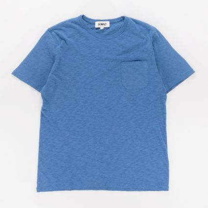 YMC Wild Ones Pocket T-Shirt Blue1