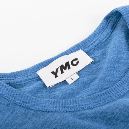 YMC Wild Ones Pocket T-Shirt Blue